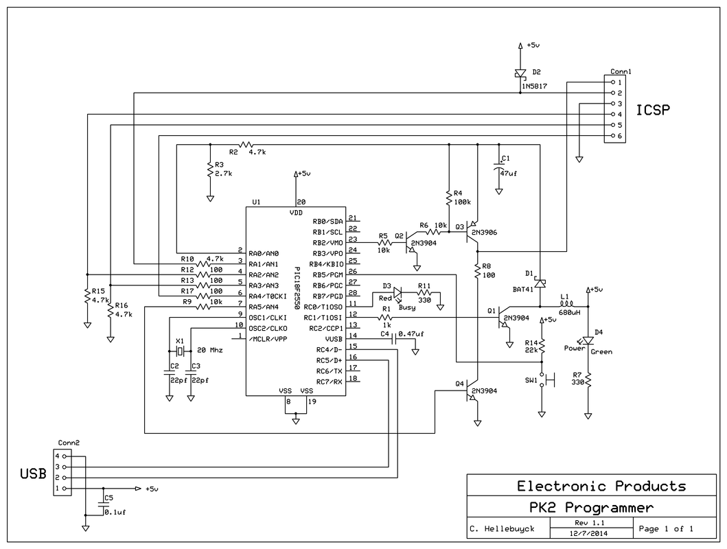 Build Your Own Pickit 2 Electronic Products Doityourself Crystal Oscillator Circuit Schematic